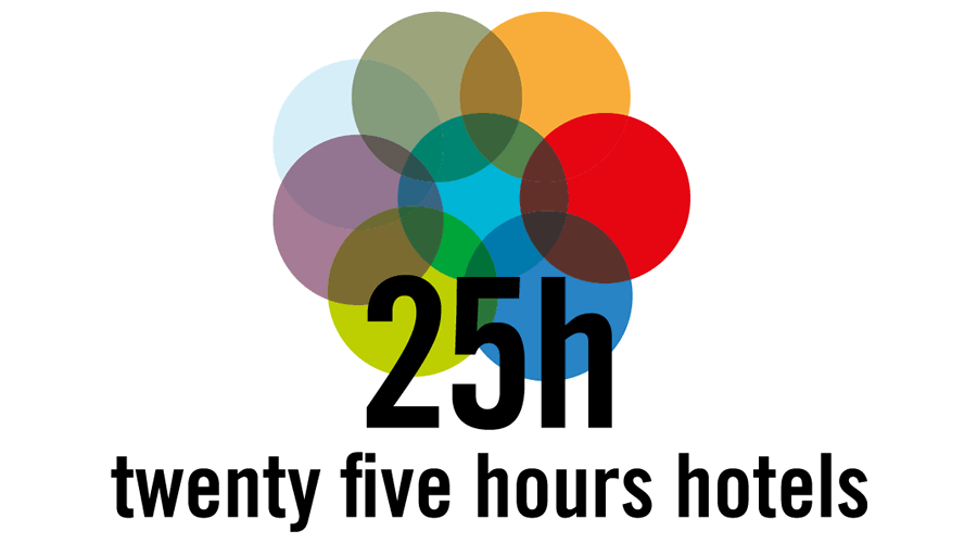 25hours hotels vector logo free download ai png