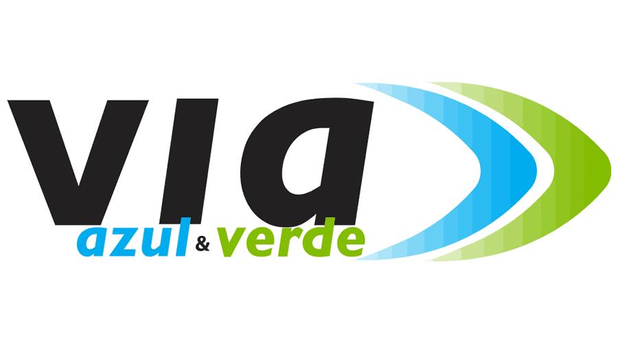 VIA AZUL E VERDE Vector Logo