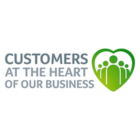 CUSTOMERS AT THE HEART OF OUR BUSINESS Vector Logo's thumbnail