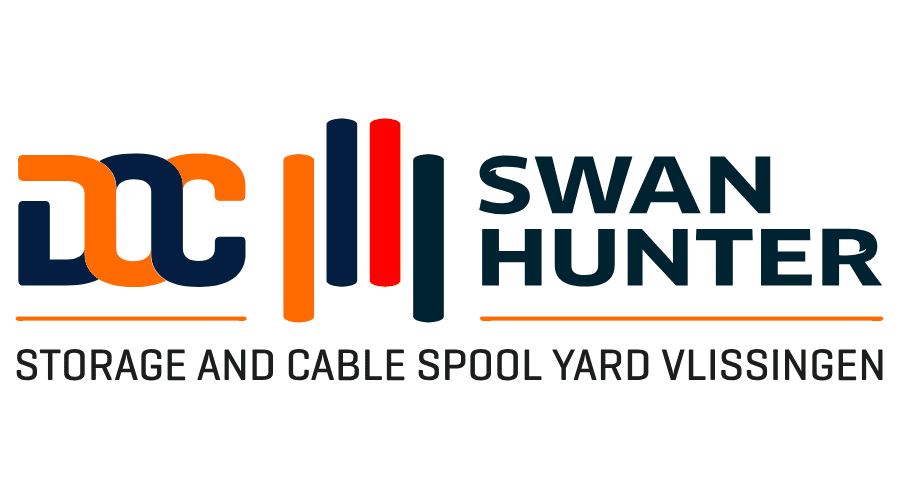 SWAN HUNTER STORAGE AND CABLE SPOOL YARD VLISSINGEN Vector Logo