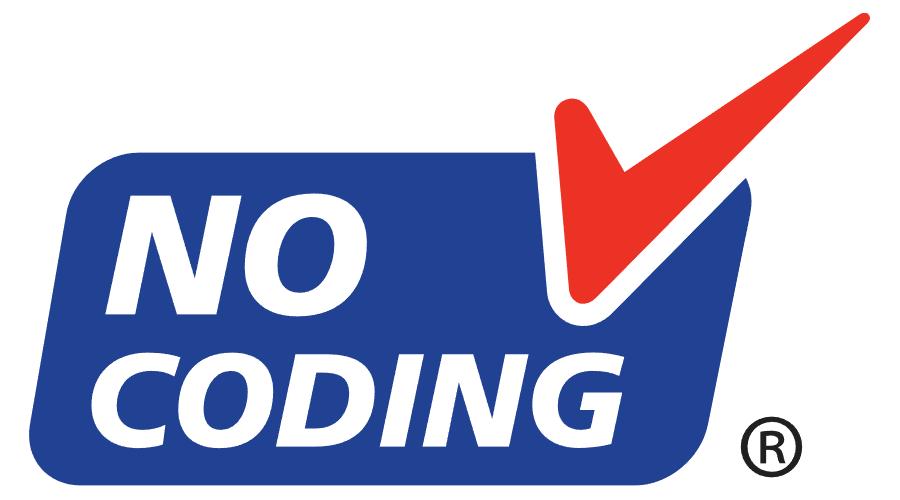 NO CODING Vector Logo